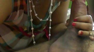 Indian bhabhi sucking big meaty cock of her hubby