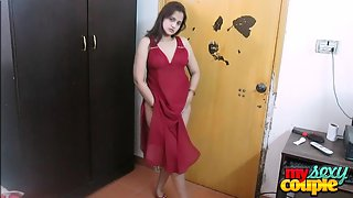 Sonia stripping red lingerie on punjabi song looking hot