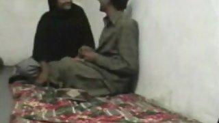 Pakistani couple enjoying sex in their bedroom