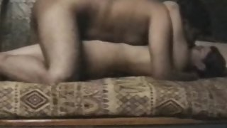 Mature Indian couple enjoying sex in their bedroom