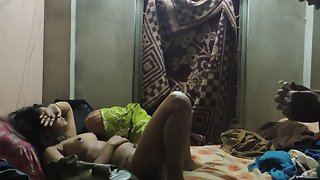 Tamil married couple seducing each other at mid night in bedroom