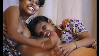 Two nude desi girls enjoying with uncle