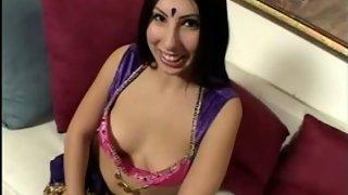 Girl giving very hot blowjob