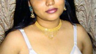Neha in white lingerie exposing herself in bedroom