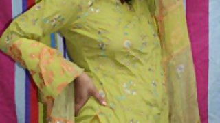 rupali in green shalwar suit
