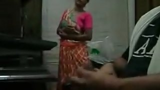 Indian young man rubbing his big cock