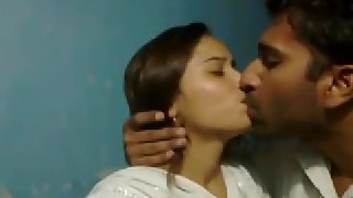 Indian college couple kissing each other cought by hiddencams.